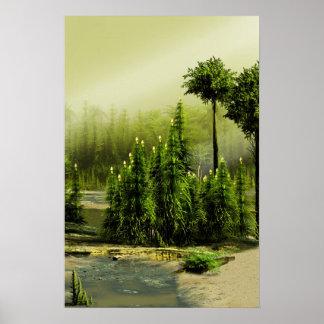 Bosque carbonífero poster