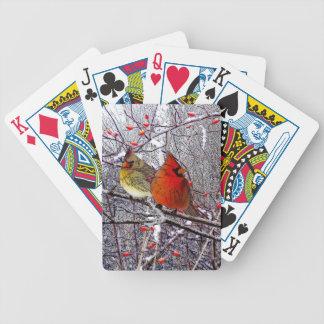 Bosque cardinal baraja de cartas bicycle