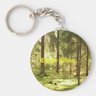 Bosque - Carpe Diem Llavero Redondo Tipo Pin