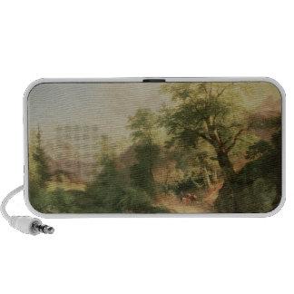Bosque cerca de Viena, 1852 (aceite en lona) iPhone Altavoz
