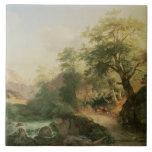 Bosque cerca de Viena, 1852 (aceite en lona) Azulejo Cuadrado Grande