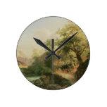 Bosque cerca de Viena, 1852 (aceite en lona) Reloj Redondo Mediano