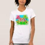 Bosque colorido del verano del árbol caprichoso camiseta