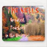 Bosque colorido, el Teachersin más grande el Unive Alfombrillas De Ratones