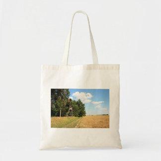 Bosque con el camino de la arena bolsa tela barata