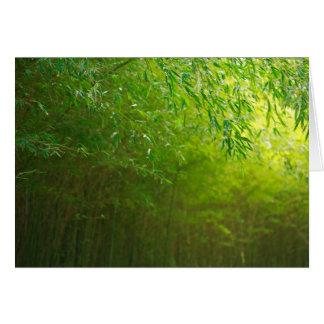 Bosque de bambú tarjeta de felicitación