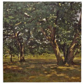 Bosque de Claude Monet Fontainebleau Servilletas