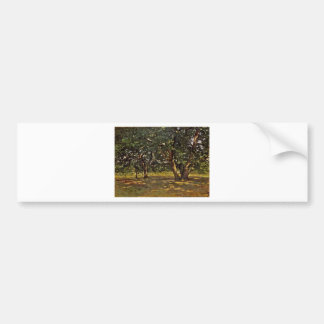 Bosque de Claude Monet Fontainebleau Pegatina Para Auto