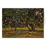 Bosque de Claude Monet Fontainebleau Tarjeta De Felicitación