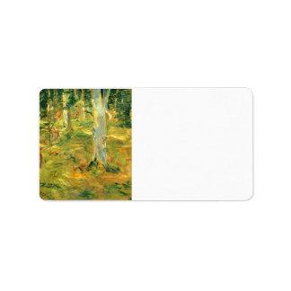 Bosque de Compiegne de Berthe Morisot Etiqueta De Dirección