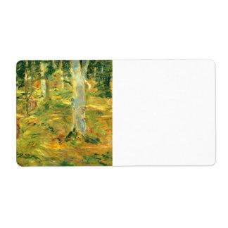Bosque de Compiegne de Berthe Morisot Etiqueta De Envío