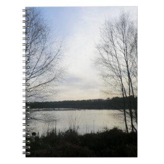 Bosque de Delamere y musgo de Blakemere Libros De Apuntes