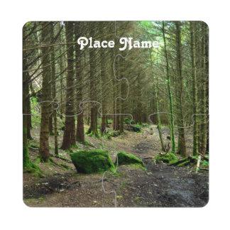 Bosque de Dunvegan Posavasos De Puzzle
