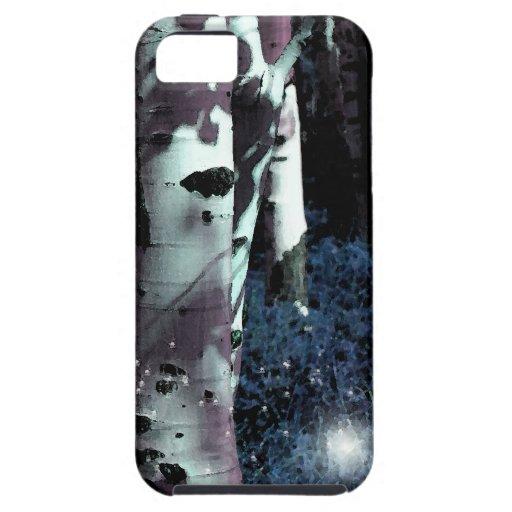 Bosque de hadas de medianoche - estilo de la acuar iPhone 5 coberturas