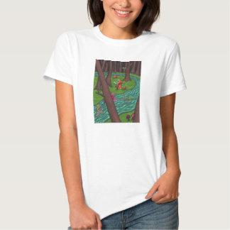 Bosque de hadas juguetón camisas