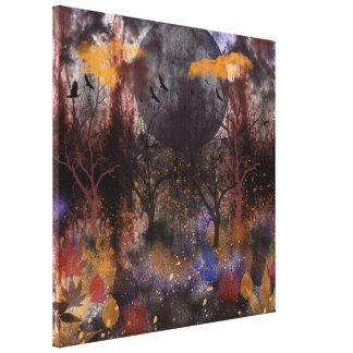Bosque de la caída del Grunge, pintura digital Impresiones De Lienzo