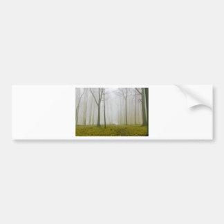 Bosque de la fantasía con niebla y follaje pegatina para auto