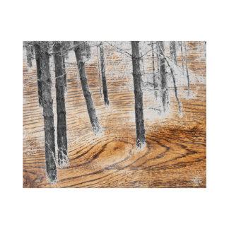 Bosque de la fantasía lienzo envuelto para galerías