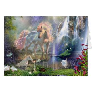 Bosque de la fantasía tarjeta de felicitación