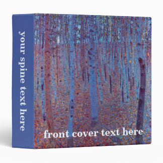"Bosque de la haya de Gustavo Klimt, arte Nouveau Carpeta 1 1/2"""