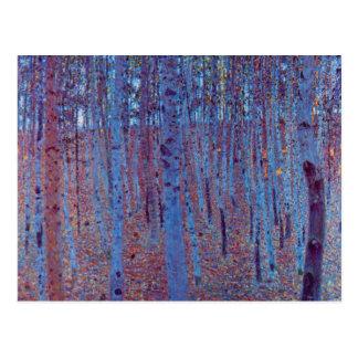 Bosque de la haya de Gustavo Klimt arte Nouveau d Postales