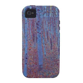 Bosque de la haya de Gustavo Klimt, arte Nouveau Case-Mate iPhone 4 Carcasas