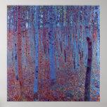 Bosque de la haya de Gustavo Klimt, arte Nouveau Posters