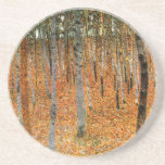Bosque de la haya de Gustavo Klimt Posavasos Personalizados