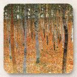 Bosque de la haya de Gustavo Klimt Posavasos De Bebidas