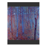 Bosque de la haya de Gustavo Klimt Postal