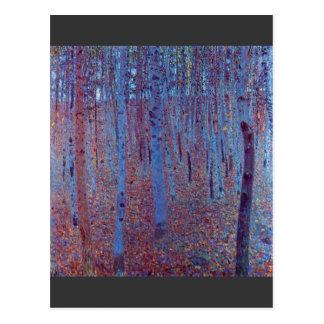 Bosque de la haya de Gustavo Klimt Tarjeta Postal