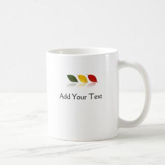 Bosque de la hoja de la haya tazas de café