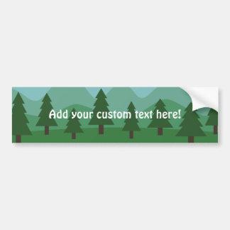 Bosque de la montaña pegatina para auto
