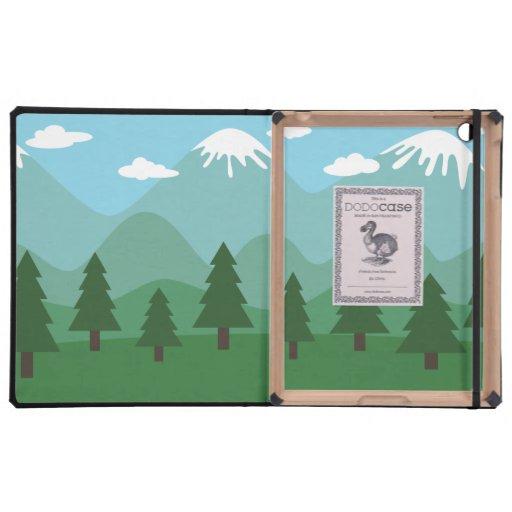 Bosque de la montaña iPad coberturas