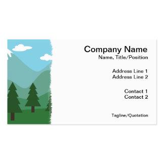 Bosque de la montaña tarjeta de visita