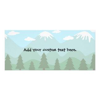 Bosque de la montaña tarjeta publicitaria a todo color