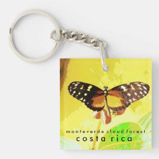 Bosque de la nube de Monteverde, mariposa de Costa Llavero Cuadrado Acrílico A Una Cara