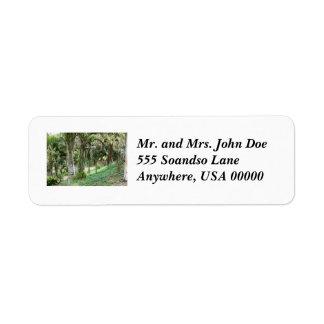 Bosque de la palma etiqueta de remite