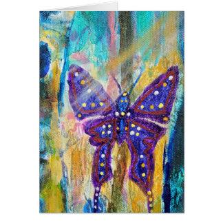 Bosque de la tarjeta de la mariposa de Chrissy de