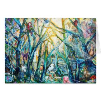 Bosque de la tarjeta de la vida