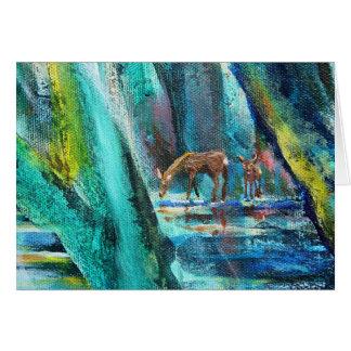 Bosque de la vida tarjeta de los ciervos de Sigri