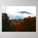 Bosque de las montañas del otoño del Adirondacks d Poster