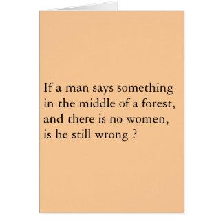 Bosque de los hombres tarjeta de felicitación