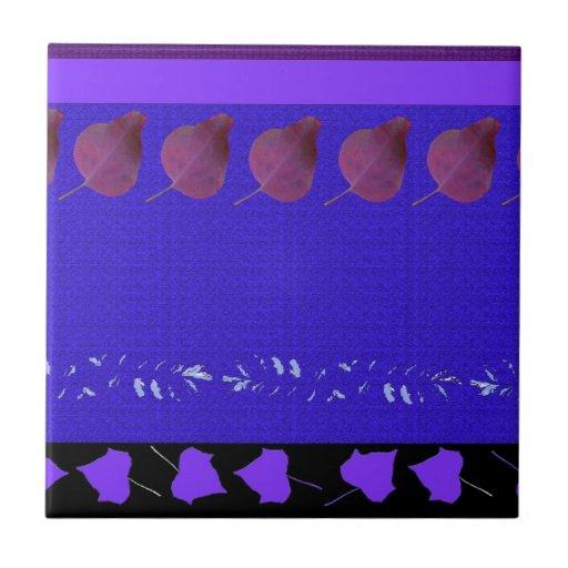 Bosque de maderas del diseño de la hoja de las azulejo cuadrado pequeño