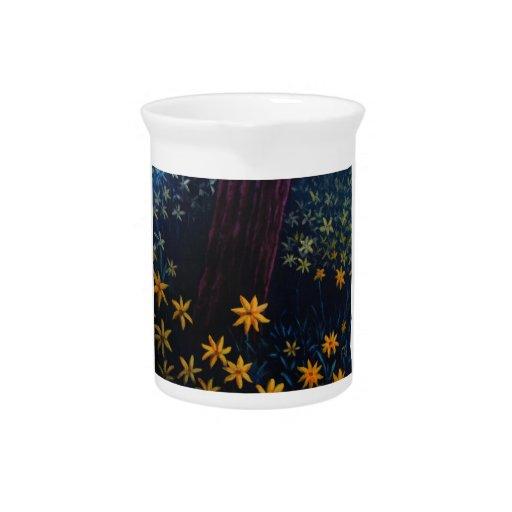 bosque de oro de la flor jarras