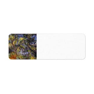 Bosque de Paul Cezanne- Etiqueta De Remite