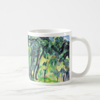 Bosque de Paul Cézanne (la mejor calidad) Taza