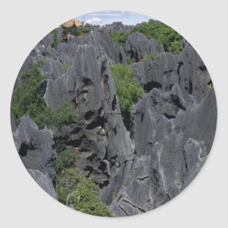 Bosque de piedra, provincia de Kunming, Yunnan, Pegatina Redonda
