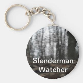 Bosque de Slenderman Llavero Personalizado