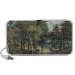 Bosque de Windsor con los bueyes que dibujan la ma Notebook Altavoz